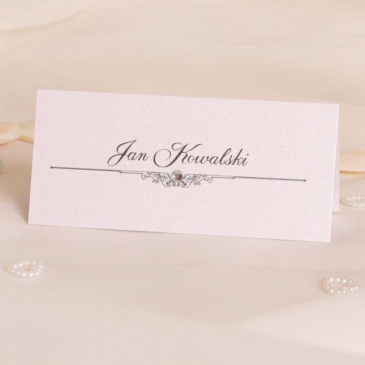 Winietki ślubne z perełką