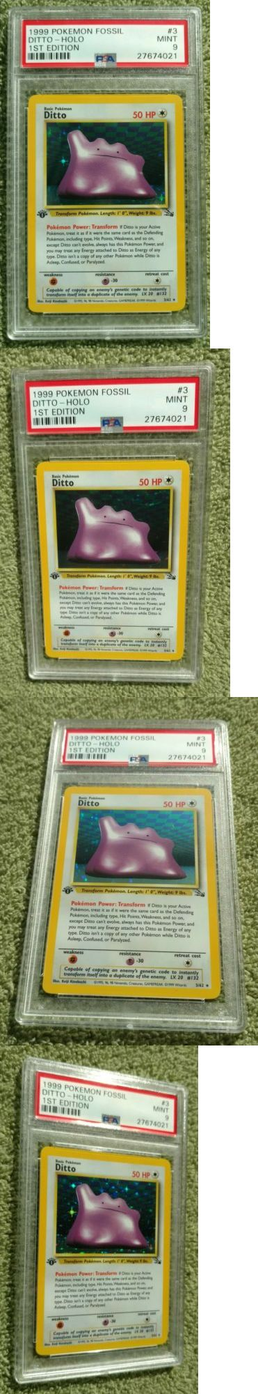 Pok mon Individual Cards 2611: Psa 9 Mint Ditto 3 62 1St Edition Holo Rare 1999 Wizards Fossil Set Pokemon -> BUY IT NOW ONLY: $35 on eBay!