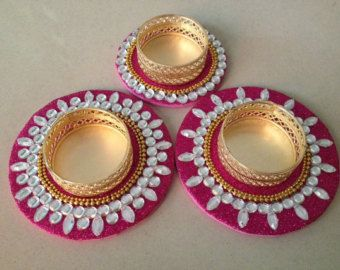 Tealight candle holder Bollywood party favors Mandala by CozMHappy