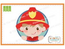 Firefighter Boy Cuttable SVG Clipart Design
