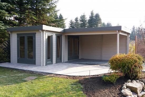 Kundenbild: Flachdach Gartenhaus Modell Quinta-44 ISO