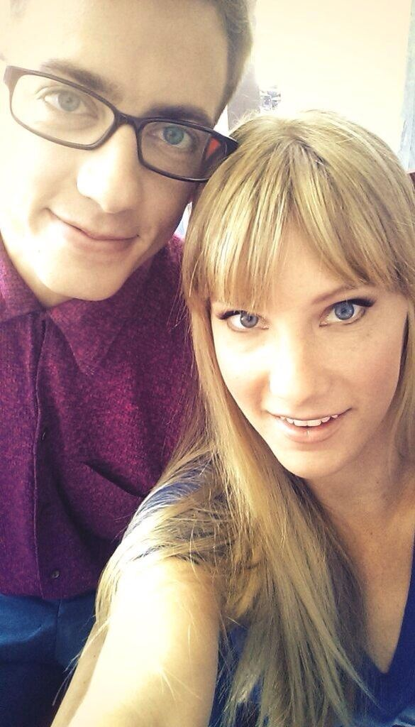 Kevin McHale and Heather Morris