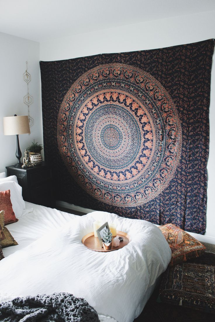 Bohemian Bedroom Inspiration✨Untamed Tapestry from Lady Scorpio☽ ✩ Save 25% off all orders with code PINTERESTXO at checkout   Bohemian Tapestry Boho Pillow Case Hex Perspective Wall Decor by Lady Scorpio   Shop Now LadyScorpio101.com   Interior Design by Kaitlyn Johnson @kaitlynjohnsondesign   @LadyScorpio101