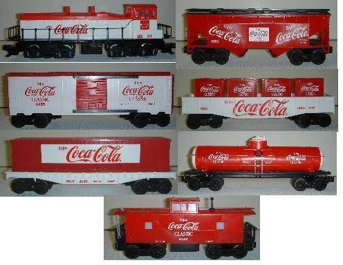 coca cola antique collectibles   LINE #K-1805B COCA COLA CLASSIC TRAIN SET WITHOUT TRANSFORMER