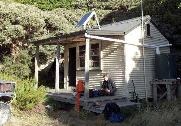 The great wee Reischek Hut in Canterbury, New Zealand.