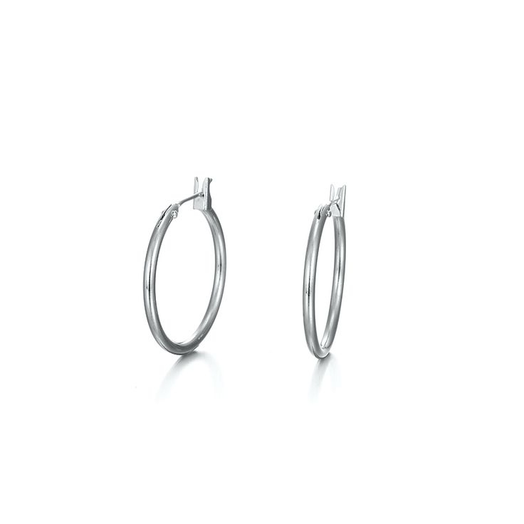 White Gold Layered Small Hoop Earring | Allure Gold