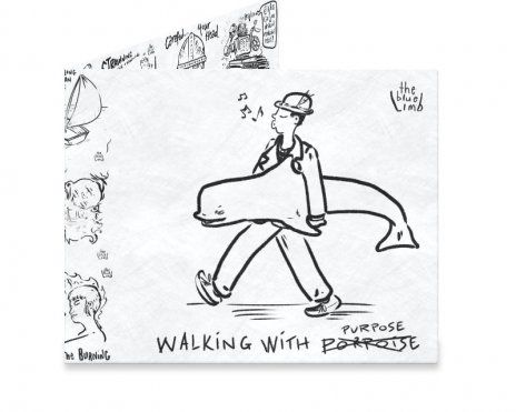Dynomighty Artist Collective: Walking With Porpoise by ajbis Stand tall. Stride with intent. Hold on tight. Slippery when wet! #mightywallet #wallet #money #whistling #walk #comic #cartoon #blackandwhite #purpose #porpoise #cash #giftideas #thebluelimb #standtall
