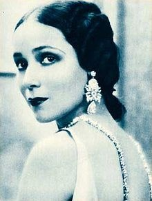 Dolores Del Rio - Mexican Actress (The first Latin actress to be recognized internationally).