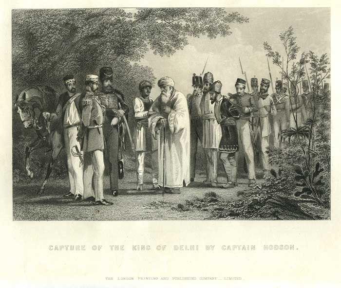East India Company 1600-1857: Capture of Bahadur Shah Zafar from Humayun's Tomb on 20th September 1857