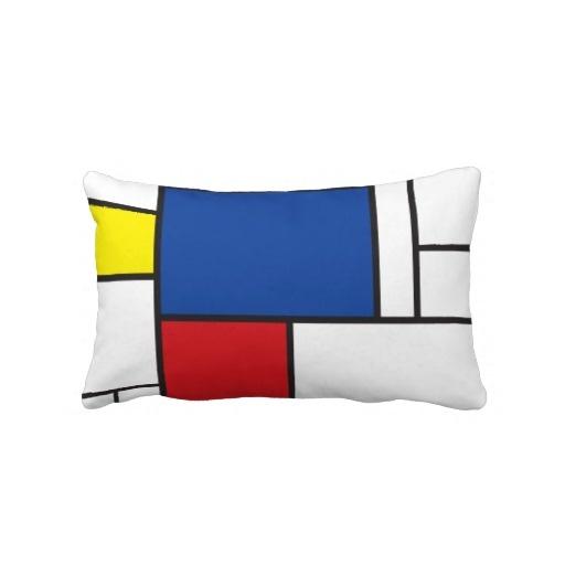 Mondrian Minimalist De Stijl Art Pillow Cushion