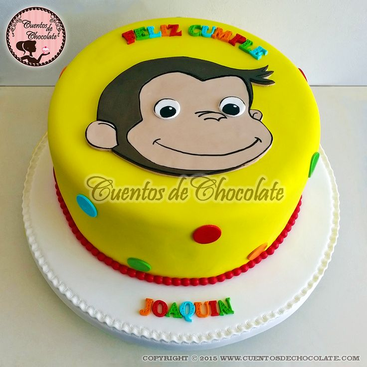 Torta Jorge el curioso. Pídelo ahora whatsapp,rpc, 951-292-244, ventas@cuentosdechocolate.com