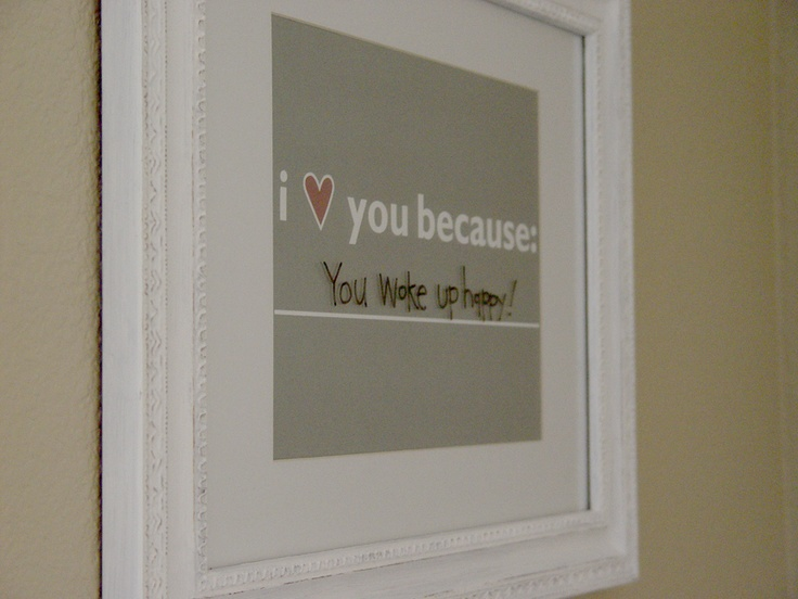 cute way to tell how you love each other!: Houses, Sweet, Gifts Ideas, I Love You, Dry Era, Cute Ideas, Pictures Frames, Messages, Kids Rooms