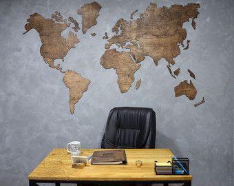 Houten kaart grote wereldkaart van de World Travel kaart muur wereldkaart rustieke Home decor Office decor wand decor Dorm wonen kamer interieur    Welkom!  Geweldig nieuws! Wij hebben nieuwe groot item in onze winkel - de kaart van de wereld van de houten muur! Het is uitstekende gift voor uw familie, vrienden of collegas. Ook is het uitstekende element van decor voor uw huis of kantoor.   ✓ zijn er alle namen van landen en lijnen van de grenzen.  ✓ is zeer soepel en dun.  ✓ Materiaal…