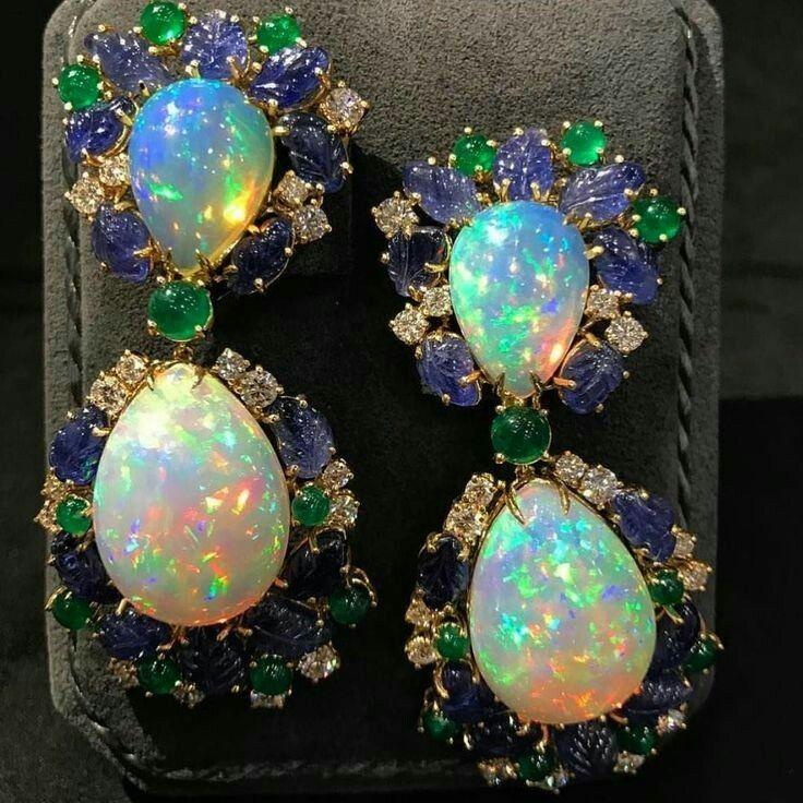 Opal diamond emerald and sapphire