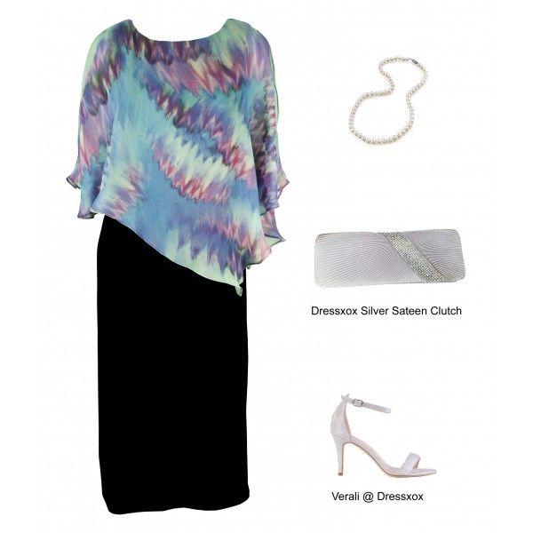 Qalis Asymmetric Evening Dress