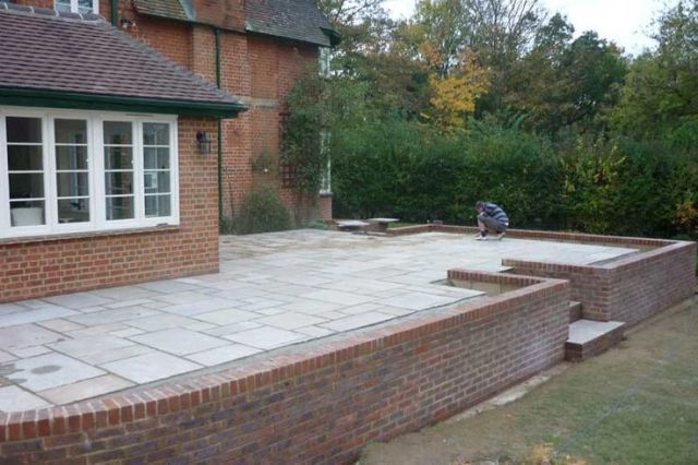 Raised Patio Construction Allscapes Gardens In High Wycombe Bucks Soft And H Allscapes Bucks Construction G Patio Stones Patio Steps Concrete Patio