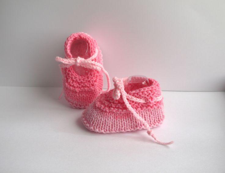 ballerines bébé chaussons naissance 0/3 mois Rose mélangé lacets : Mode Bébé par sweet-creas