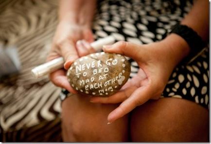 message on rocks, wedding shower, @Bree Little, weddingtulle.com