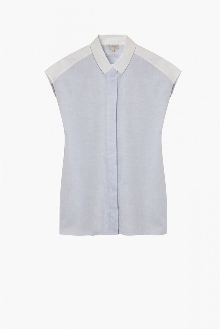 Chemise bleu lavé, audeline | pablo