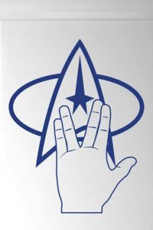 Star Trek Logo and Hand Door Room Wall Sticker 220x330 Great Star Trek Gift Ideas