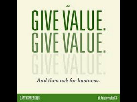 Give Value Be The Person You Want To Become