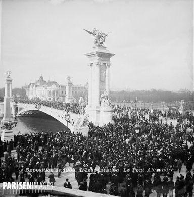 Exposition universelle de 1900, Paris. Inauguration du pont Alexandre-III.