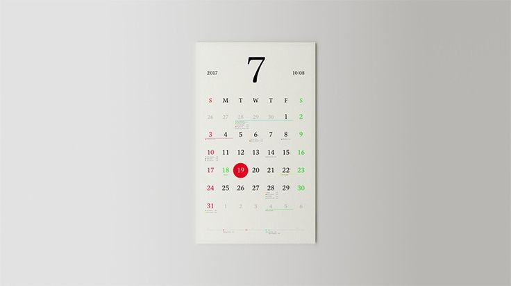 hironao tsuboi's tangeable paper calendar syncs with your smartphone
