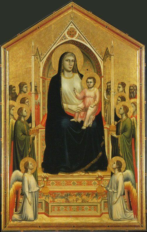 Uffizi Gallery. GIOTTO. (The Ognissanti Madonna). c. 1300