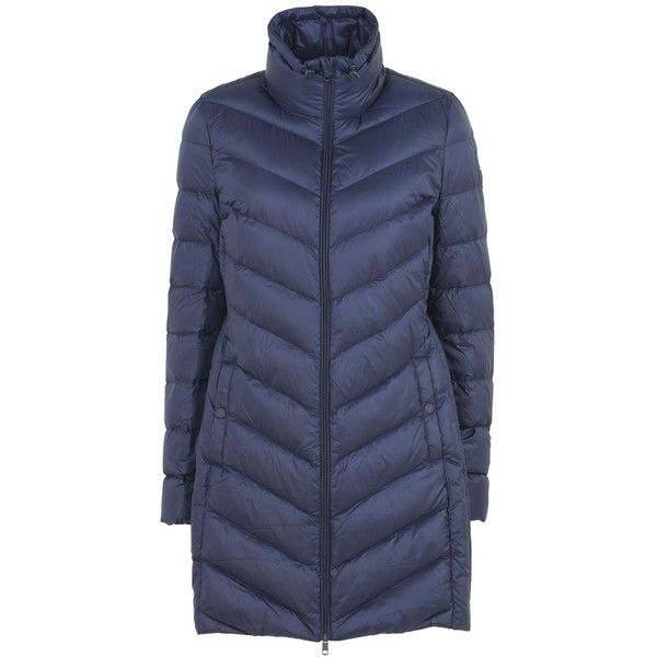 Tommy Hilfiger Down Jacket (17.170 RUB) ❤ liked on Polyvore featuring outerwear, jackets, dark blue, single breasted jacket, zip jacket, tommy hilfiger jacket, down filled jacket and animal jackets