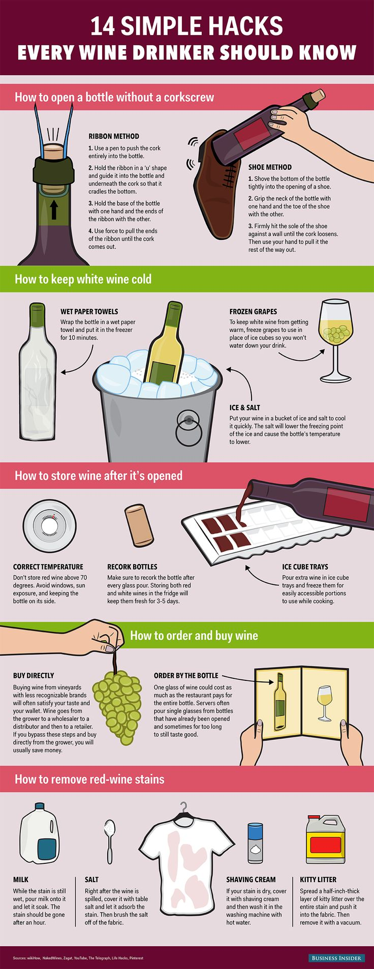 14 Wine Hacks #wine #wineeducation #winetasting