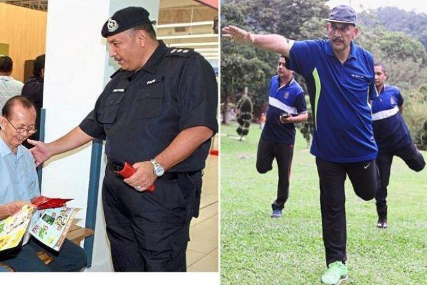Hasil diet dan keazaman yang kuat Pegawai Kanan Polis ini berjaya turun 38kg   Hasil diet dan keazaman yang kuat Pegawai Kanan Polis ini berjaya turun 38kg | Pada tahun lalu Ketua Polis Daerah Timur Laut Asisten Komisioner Mior Faridalathrash Wahid mempunyai berat badan kira-kira 135 kilogram (kg).  Tapi berat badannya kini hanya 97kg selepas berjaya melakukan penurunan sebanyak 38kg.  Namun kejayaan menurunkan berat badan itu bukan datang dengan sendiri atau melalui jalan pintas.  Ia…