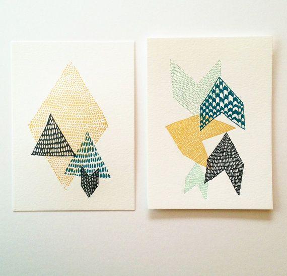 Leah Duncan // Satsuma Press Letterpress Print Set by leahduncan, $30.00