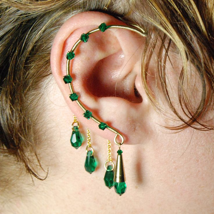 Emerald Gold Ear Wrap- SOLD by *YouniquelyChic on deviantART
