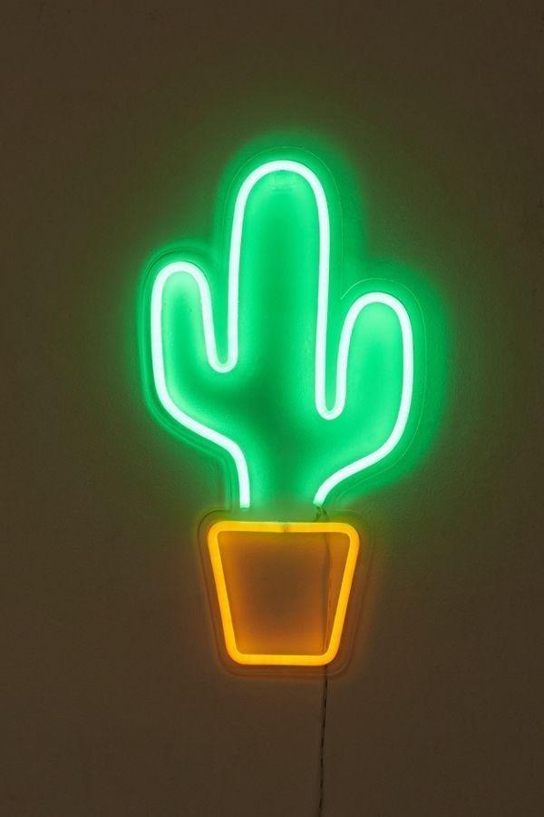 Cactus Flamingo Double Side Light Table Led Neon Light