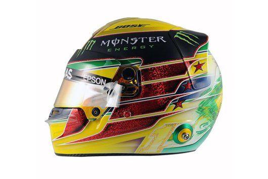 ルイス・ハミルトン、アイルトン・セナ仕様のヘルメットでブラジルへ  [F1 / Formula 1]