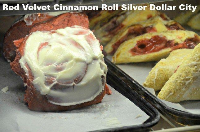Red Velvet Cinnamon Roll Silver Dollar City #Silver Dollar City New Food #red velvet