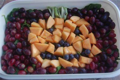 healthy melon pumpkin halloween food
