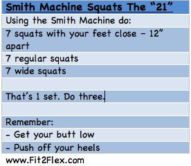 Just started making friends with the Smith Machine, this is a great booty buster!