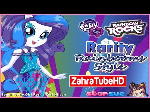 My Little Pony   Equestria Girls   Rarity Rainbooms Style Dress Up Game ...