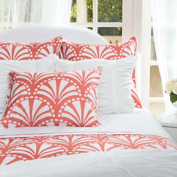 The Clementina Coral Duvet Set