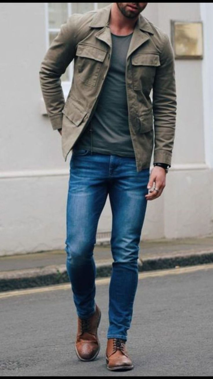 Winter mens men s fall fall autumn pre fall denim winter jeans - Stitch Fix Men Great Casual Men S Outfit Muted Earth Tones Straight Leg Jeans And Fitted Tee