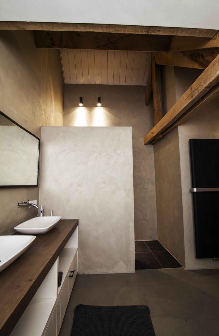 moderne badkamer met dubbele wastafel lake house pinterest