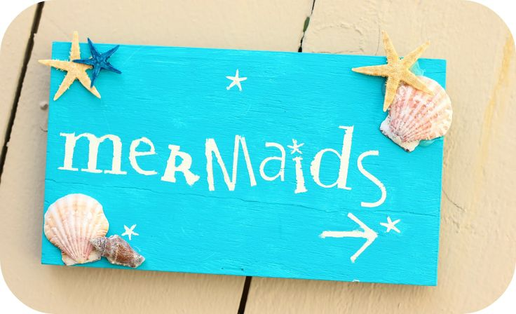 Here's a sampling of a few mermaid party ideas. First up is Shara Bachman's little mermaid party for her two year old. Isn't the mermaid sign adorable