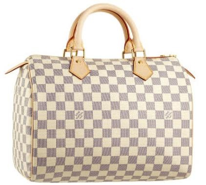 My favourite spring bag - Louis Vuitton Speedy 25 Azure.