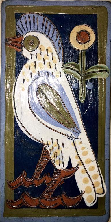 Annons på Tradera: Rolf Hansen Kongsberg keramik VäggPlatta Ø17x8,5