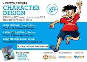 """update Depok Creative Akan Gelar #CreativeRoom """"Character Design"""" di Depicta 2014"""