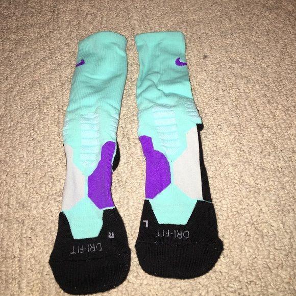 Nike basketball socks Blue and purple Nike basketball socks! Nearly worn Nike Other