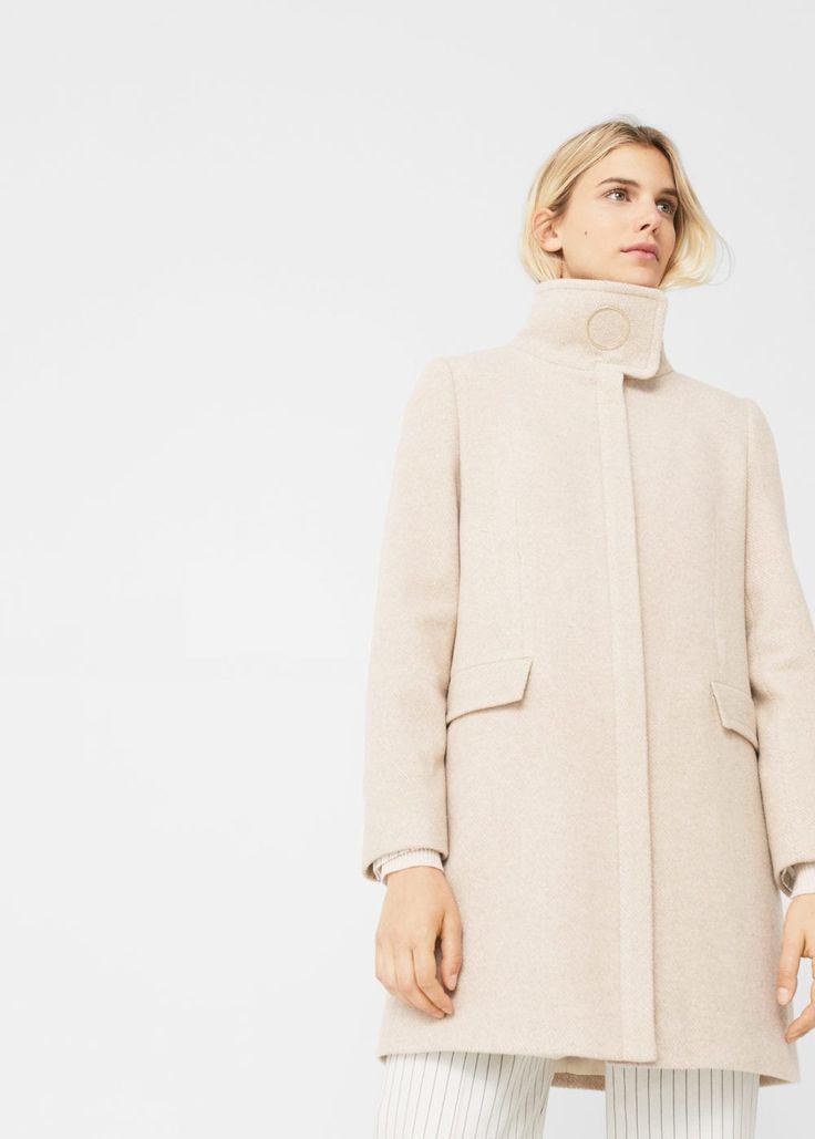 Abrigo lana anilla - Abrigos de Mujer | MNG Colombia