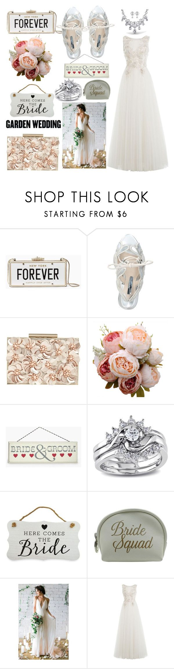 """here comes the 👰 bride"" by mia-p-o-v ❤ liked on Polyvore featuring Kate Spade, Sophia Webster, Phase Eight, Boohoo, Miadora, New View, Danielle Creations and Alberta Ferretti"