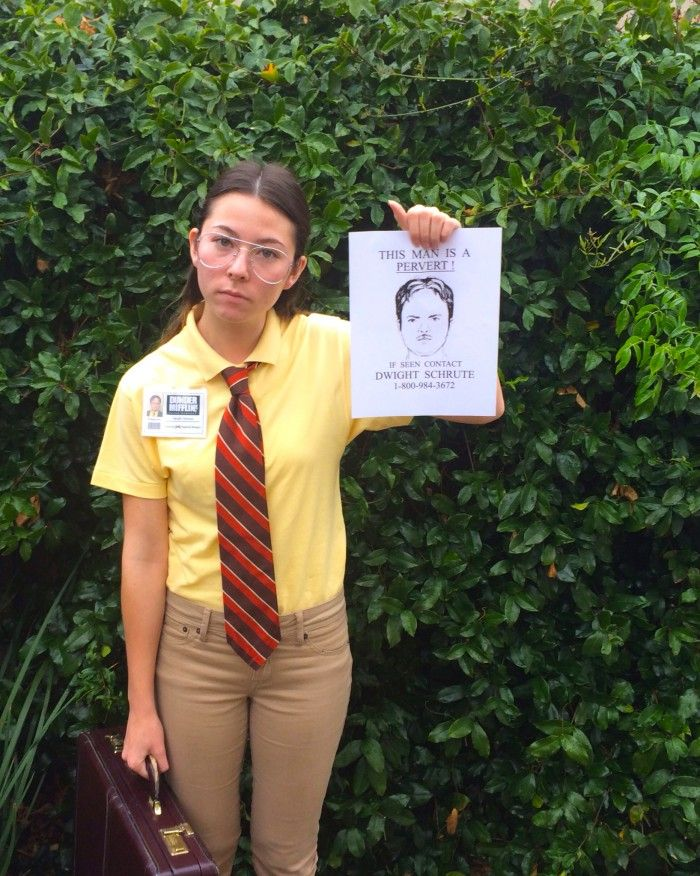 """Kaylie as """"Assistant to the Regional Manager at Dunder Mifflin, Scranton branch. Also, beet farmer and bed-and-breakfast owner. (Aka Dwight Schrute!!)"""" (California)"""